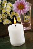 White candle Stock Photos