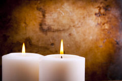 White Candles Stock Image
