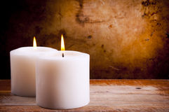 White Candles Royalty Free Stock Images