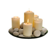 White candles Royalty Free Stock Photography