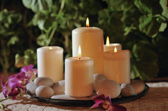 White candles Stock Photos