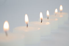 White candles Stock Photo