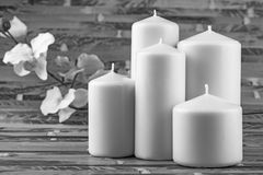 White candles Stock Photo