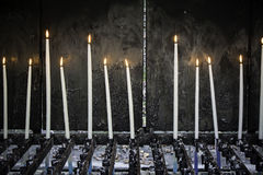 White candles church Royalty Free Stock Photo