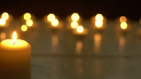 White candles light romantic theme