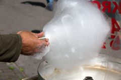 White candyfloss Royalty Free Stock Photo