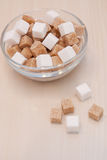 White and cane sugar Royalty Free Stock Images