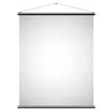 White Canvas Banner. Illustration of White Promotional Canvas Banner isolated on a white background Royalty Free Stock Photos