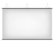 White Canvas Banner. Illustration of White Promotional Canvas Banner isolated on a white background Stock Photo
