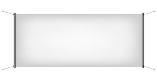 White Canvas Banner. Illustration of White Promotional Canvas Banner isolated on a white background royalty free illustration