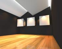 White canvas on black wall Stock Photo