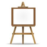 White canvas on an easel. Royalty Free Stock Photo