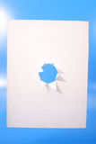 White canvas with hole Royalty Free Stock Photo
