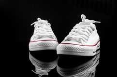 White canvas shoe Stock Photography
