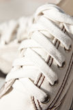 White canvas shoes royalty free stock images