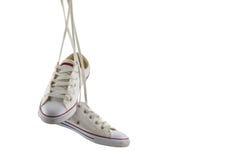White canvas shoes isolated on white background Stock Image