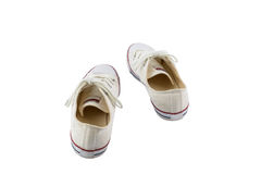 White canvas shoes isolated on white background Royalty Free Stock Photo