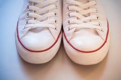 White canvas shoes Stock Photos