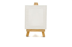White canvas on a tablet. On a white background Stock Photo