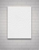 White Canvas on Wall Royalty Free Stock Photos