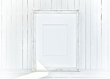 White canvas on wooden plank background Royalty Free Stock Image
