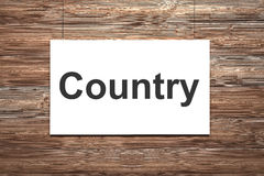 White canvas on wooden wall country Stock Image
