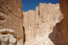White canyon in Egypt. Sinai peninsula, Nuweiba Royalty Free Stock Photography