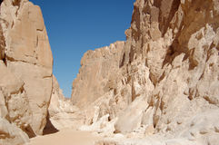White canyon in Egypt. Sinai peninsula, Nuweiba Stock Image
