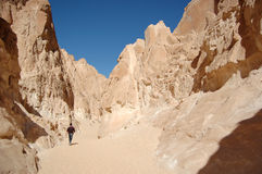 White canyon in Egypt Royalty Free Stock Photos
