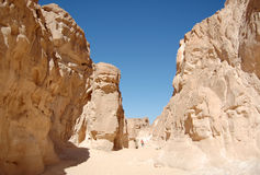 White canyon in Egypt. Sinai peninsula, Nuweiba Stock Photography