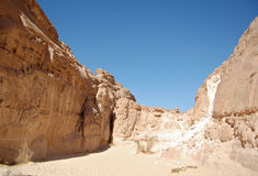 White canyon in Egypt. Sinai peninsula, Nuweiba Royalty Free Stock Photos