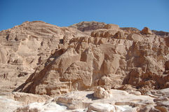 White canyon in Egypt. Sinai peninsula, Nuweiba Stock Images
