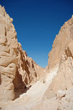 White canyon in Egypt. Sinai peninsula. Nuweiba Royalty Free Stock Photography