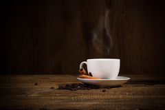 White cap of arabic coffee Royalty Free Stock Images