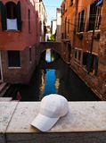 White Cap on the Bridge in Venice, Italy Royalty Free Stock Photo