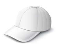 White cap isolated  illustration Royalty Free Stock Photo
