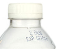 White cap of plastic bottle isolated on white backgroun Stock Photo