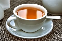 White cap of tea Royalty Free Stock Images