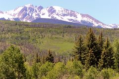 White capped Rockies Royalty Free Stock Photo