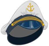 White captain cap with anchor Royalty Free Stock Photos