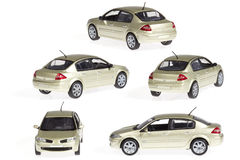 White car. Images of a white car and different angles Royalty Free Stock Photos