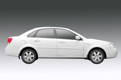 White car. With grey background which is easy to remove Royalty Free Stock Image