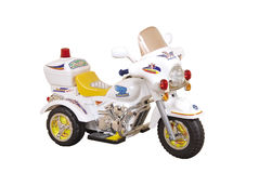 White motorcycle Royalty Free Stock Photos