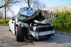 White car accident Royalty Free Stock Photos