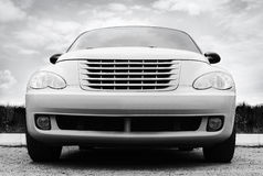 White car against the sky Royalty Free Stock Photos