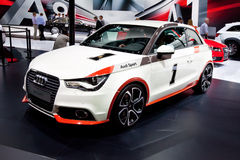 White car Audi A1 Allroad Royalty Free Stock Photo