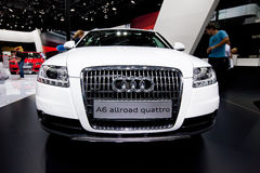 White car Audi A6 Allroad Royalty Free Stock Photography