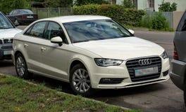 White car Audi. Royalty Free Stock Photography
