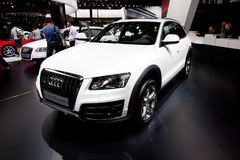White car Audi Q5 Stock Photo