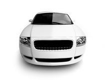 White car bumper view Royalty Free Stock Photography